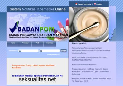 Cek obat di website BPOM