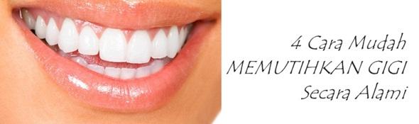 Memutihkan gigi secara alami